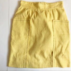 Anthropologie Cartonnier Yellow Straight Skirt